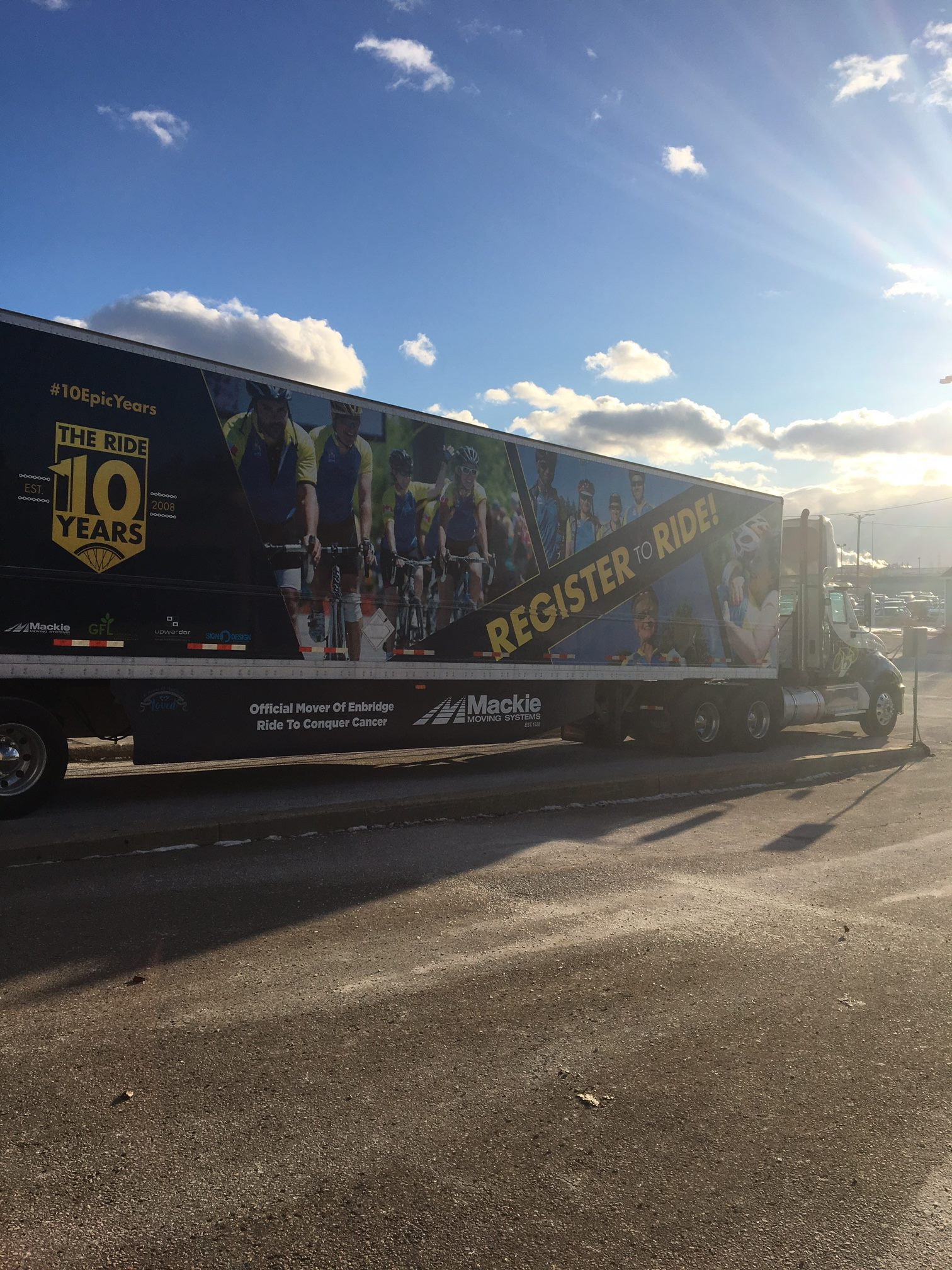 Check out our awesome new trailer. Wrapped for the Ontario Ride to Conquer Cancer! Please consider joining our team or sponsoring one of our Riders.